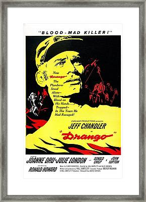 Drango, Us Poster, Jeff Chandler Framed Print by Everett