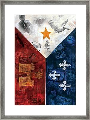 Drapeau Du Acadie Framed Print