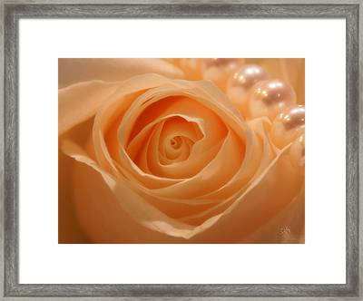 Framed Print featuring the photograph Draped In Pearls by Sami Martin