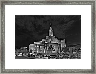 Draper Temple 7 Framed Print