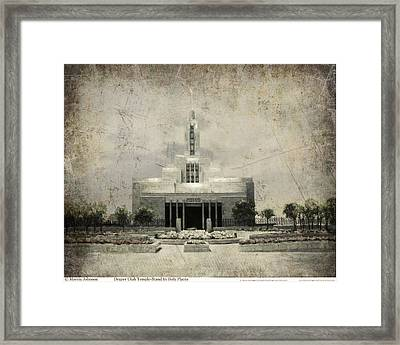 Draper Temple Stand In Holy Places Antique Framed Print