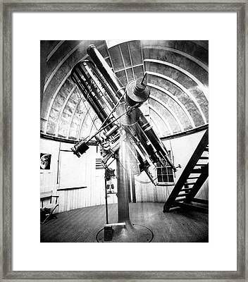 Draper's 28-inch Telescope Framed Print by Royal Astronomical Society