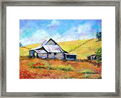 Drapper Valley Barn Framed Print by Bruce Schrader