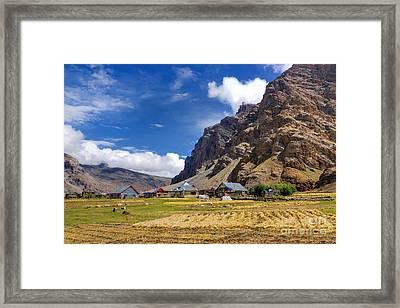 Drass Village Kargil Ladakh Jammu And Kashmir India Framed Print by Rudra Narayan  Mitra