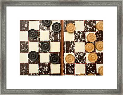 Draughts Pieces Framed Print