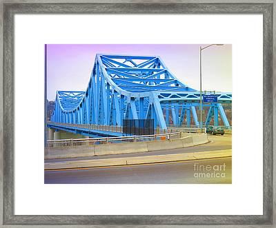 Dravosburg Bridge Framed Print by Shelly Weingart