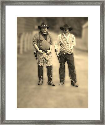 Framed Print featuring the photograph Draw First by B Wayne Mullins