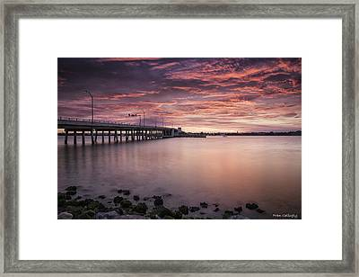 Drawbridge At Dusk Framed Print