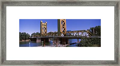 Drawbridge Over A River, Tower Bridge Framed Print by Panoramic Images
