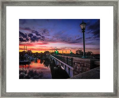 Drawbridge Sundown  Framed Print