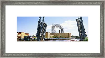 Drawbridge With Aerial Lift Bridge Framed Print by Panoramic Images
