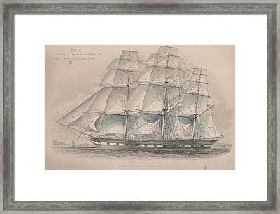 Drawing 2 Of An Old-fashioned Ship Framed Print