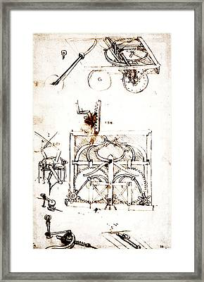 Drawing For An Automobile Mechanisms Framed Print