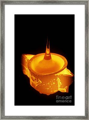 Drawing Glass From Crucible Framed Print