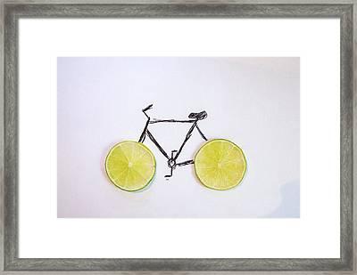Drawing Of Bicycle Framed Print by Celine Nguyen / Eyeem