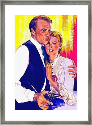 Drawing Of High Noon Framed Print by Art Cinema Gallery