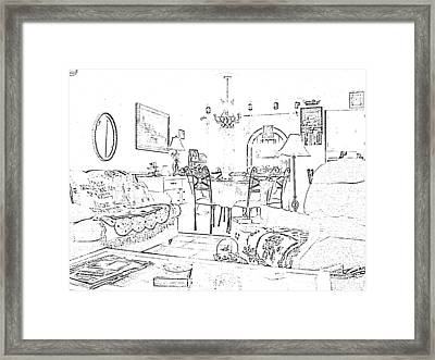 Drawing Of Home By Angeliaclay Framed Print