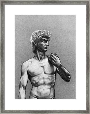 Drawing Of Michelangelos David Framed Print