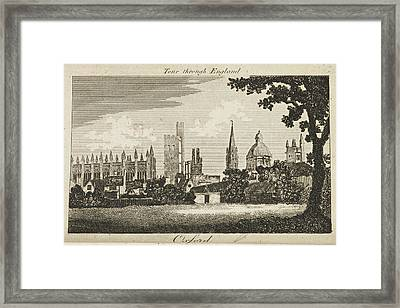 Drawing Of Oxford. Circa 1811 Framed Print by British Library
