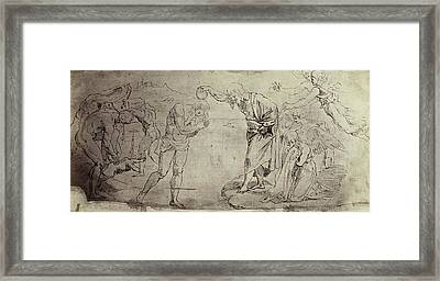 Drawing Raphael From Windsor Castle, Baptism In The Jordan Framed Print