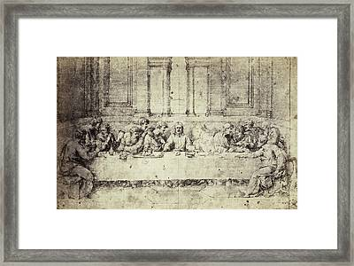Drawing Raphael From Windsor Castle, The Last Supper Framed Print