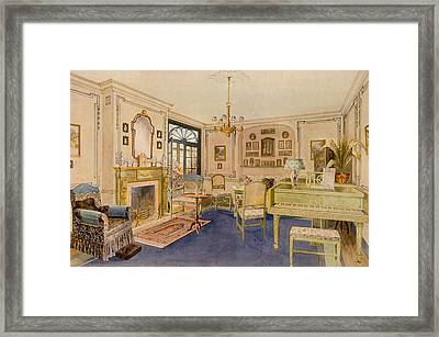 Drawing Room Adam Revival Style Framed Print