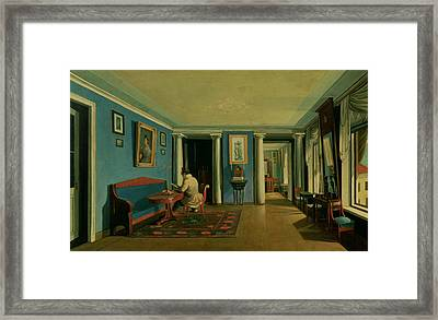 Drawing Room With Columned Entresol  Framed Print by Kapiton Alekseevich Zelentsov