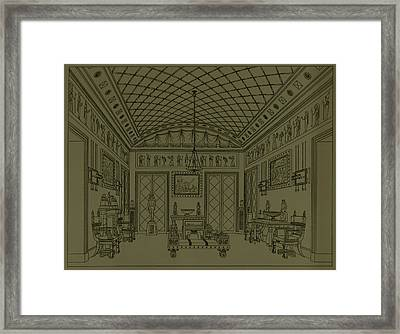 Drawing Room With Egyptian Decoration Framed Print by