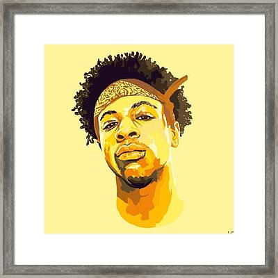 Drawing That I Made Of Joey Bada$$ Plz Framed Print