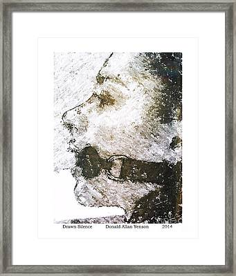 Drawn Silence Framed Print by Donald Yenson