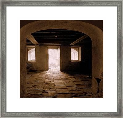 Drayton Hall Basement Framed Print