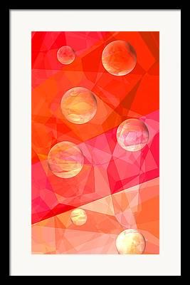 Sorbet Digital Art Framed Prints