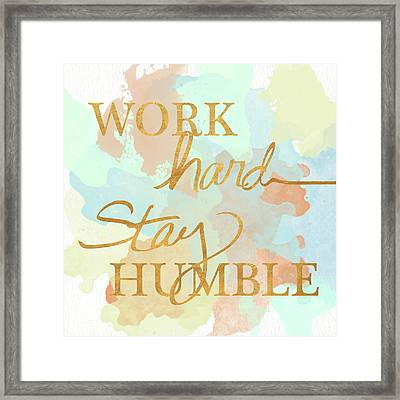 Dream Big And Work Hard Watercolor II Framed Print by Sd Graphics Studio