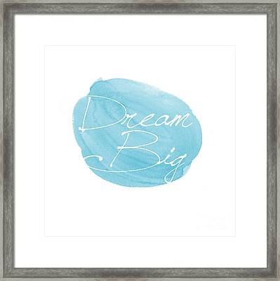 Dream Big Blue Framed Print by Marion De Lauzun