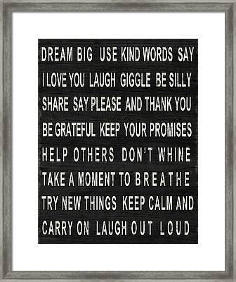 Dream Big Framed Print by South Social Studio
