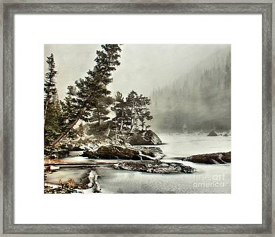 Framed Print featuring the photograph Dream Blizzard by Steven Reed