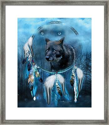 Dream Catcher - Midnight Spirit Framed Print by Carol Cavalaris