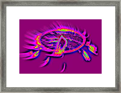 Dream Catcher With Light Framed Print