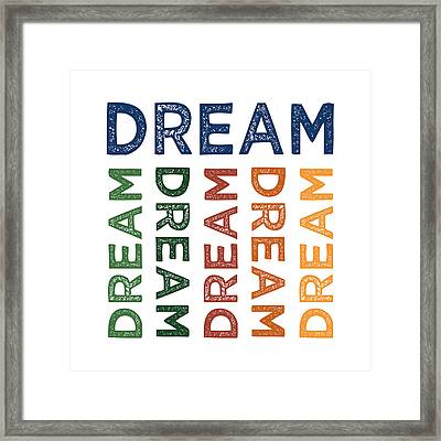 Dream Cute Colorful Framed Print by Flo Karp