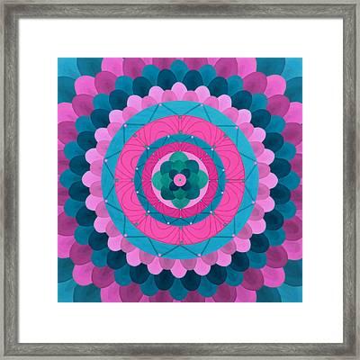 Dream Flower Mandala Framed Print by Vlatka Kelc