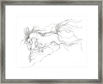 Dream Horse Framed Print by Angel  Tarantella