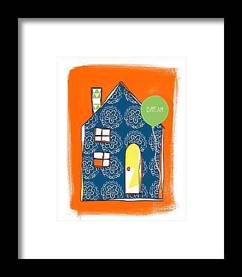 Colorful Houses Framed Prints