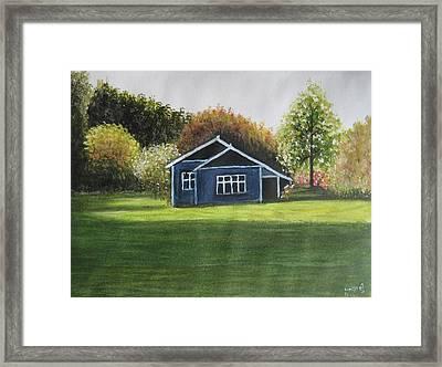 Dream House Framed Print by Usha Rai