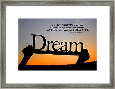 Dream - Inspirational Quote Framed Print