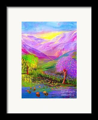 Jacaranda Tree Framed Prints