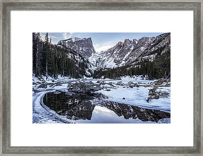 Dream Lake Reflection Framed Print by Aaron Spong