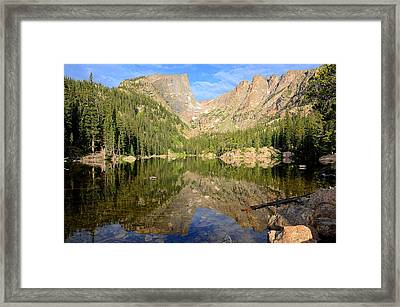 Dream Lake Reflection Framed Print