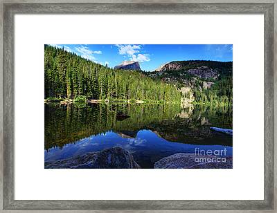 Dream Lake Rocky Mountain National Park Framed Print by Wayne Moran
