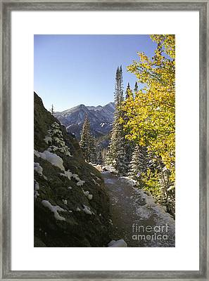 Dream Lake Sunrise Framed Print