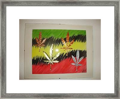 Dream Leaves Three Framed Print by Scott Faucett